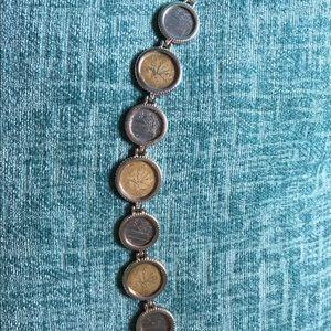 MILOR Italy Sterling Coin Bracelet